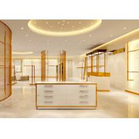 Buy Luxury Stainless Steel Store Display Fixtures For Women Clothing Shop at wholesale prices