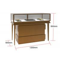 Quality Veneer MDF Glass Display Cabinets , Jewelry Watches Retail Shop Display for sale