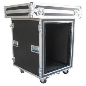 Quality Aluminum Flight Case With Wheels / Handles Plastic 4U Rack Case for sale