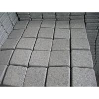 China G603 Grey granite paver stone granite paving stone on mesh With High Quality on sale