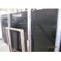 Quality Black Wood Marble Wall Slab , 20mm Marble Stone Tile Vein Cut / Cross Cut for sale