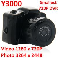 Quality Y3000 8MP Thumb 720P Mini DVR Camera Smallest Outdoor Sports Spy Video Recorder PC Webcam for sale