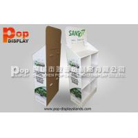 Quality 4 Tiers Retail Corrugated Paper Cell Floor Display  Supermarket Rack Stand for sale