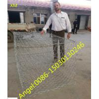 Quality 80mmx100mm, 2mX1mX1m hot dipped Galvanized / PVC Coated Wire Mesh Gabion/gabion box for sale