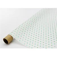 Quality Fade Resistant Hot Stamping Tissue Paper 17gsm Green Dot For Bouquet for sale