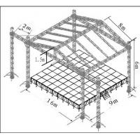 Quality Concert Aluminum Stage Truss Tower With Roof Stage 760mm X 600mm for sale
