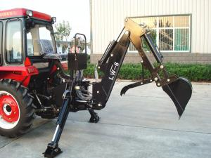 Quality 550kg Tractor Mounted Backhoe Diggers , 35hp Tractor Rear Digger for sale