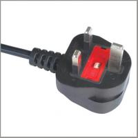 Quality UK flexible cord BS approved power cord with moulded fused plug for sale