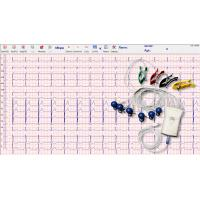 Quality Grey White Handheld Ecg Monitor 12 Lead 10 Wire With Usb Cable Connection for sale
