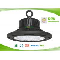 Quality High Efficiency 145lm / w UFO LED High Bay 120W, 60 90 120 degree angle for sale