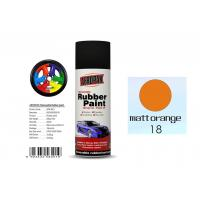 Quality Matt Orange Color Rubber Based Spray Paint 60 Min Hard Dry With REACH Certificate for sale