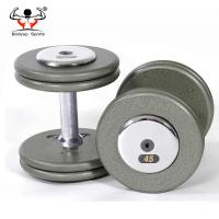 China Steel Handle Gym Fitness Dumbbell , Adjustable Dumbbell Set For Military Fitness Centers on sale