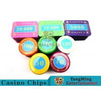 Quality Multi - Color Print Crystal Casino Poker Chip Set Tough And Durable for sale