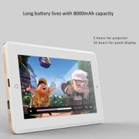 Quality 8 inch T80 Gold / Silver Color Tablet PC Projector For Meeting Office for sale