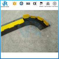 Quality Dual Channel Truss Parts Way Rrubber Floor Cable Cover Yellow Pvc Cover for sale
