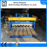 Quality Galvanized Plate Cold Roll Forming Machine For Container Panel ISO Approval for sale