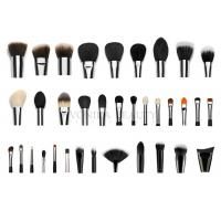 Quality Professional  Private Label Makeup Brushes With Silver Copper Ferrule 35 pcs for sale