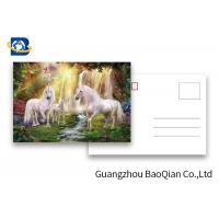 Quality Full Color Animated Postcards , Two Sides Custom Lenticular Printing 0.6 MM PET for sale