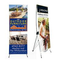 Quality Advertising x banner standing banner promotional display economic printing x-banner for sale
