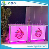 Quality Acrylic Led Commercial Portable Bar , High Strength Portable Breakfast Bar for sale