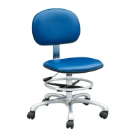 Quality Adjustable Pneumatic Rod Conductive 109 Ohm ESD Lab Chairs for sale