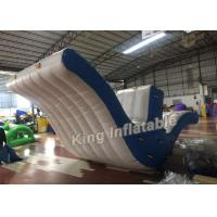 China Exciting 0.9mm PVC Blue / White Fly Bird Seesaw Inflatable Water Toy For Water Park on sale