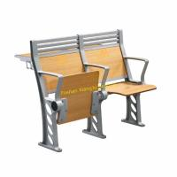 Quality XJ-K38 High Back Armed Plywood Back and Seat Lecture Hall Chair with Aluminum Stand for sale