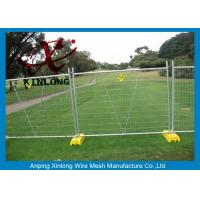 Quality Portable Chain Link Fence , Temporary Wire Fencing Metal Iron Material for sale