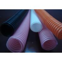 Corrugated Flexible Tubing Flexible Seal Type , Wavy Shape Black Or White Corrugated Plastic Pipe for sale