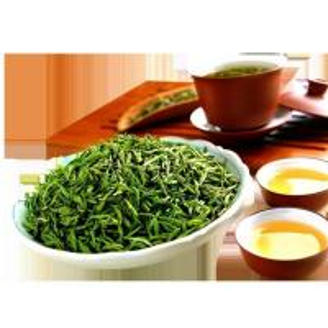 Quality Curved Shape Organic Green Tea Long Jing Green Tea Pan - Frying Processing for sale