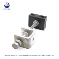 Quality ADSS Tower ISO9001 Steel 14mm Down Lead Clamp for sale