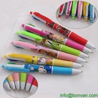 China New design multi colored writing pen,CMYK printed writing pen on sale