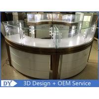Buy High End Stainless Steel Gold Jewellery Showroom Display With Led Light at wholesale prices
