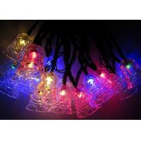 Quality Jingle Bell 4.8m Solar Powered Decorative String Lights With 20 Bulbs for sale