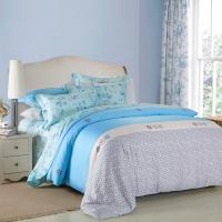 Buy 4 Piece Navy Blue Bedding Sets , 100 Percentage Cotton Beautiful Bedroom Bedding at wholesale prices