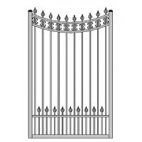 Quality 47 inch width garden gate Aluminum small gate singal swing gate for sale
