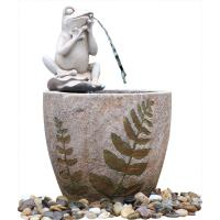Quality Medium Nude Frog Resin Water Fountain / Resin Garden Water Features for sale