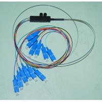 Quality Ribbon Flat LC 12 Core Fiber Optic Pigtail 0.9mm for sale