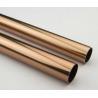 Golden Round Anodized Aluminum Tube , Dark Bronze Anodized Aluminum Finished Tubing for sale