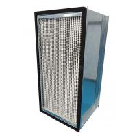 Quality Galvanized Steel Frame HEPA Air Filter 1000m³/h Air Volume With Aluminum Foil Separater for sale