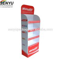 China Template Cardboard Floor Display Stands for Mockup Custom Poster Folding Pop Up on sale