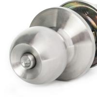 Buy Chrome Stainless Steel Cylinder Door Knobs Cylindrical Lock Privacy Knob Lock at wholesale prices