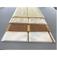 Quality 10 Inch Latin America Ceiling Decorative PVC Panels With Golden Lines for sale