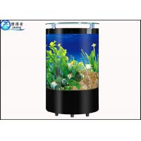 Quality Rugged Semi-circular Floor-proof Glass Aquarium Fish Tank  Multi Color for Commercial for sale