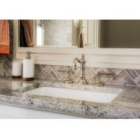 Buy Giallo Caspian Natural Marble Bath Vanity Tops With Eased Edges at wholesale prices