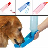 China 500ml Blue/Red/Pink pet water bottle Potable Pet Dog Cat Water Feeding Drink Bottle on sale