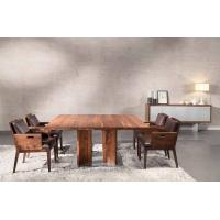 Quality Large Wood Furniture Dining Table And Chairs Natural Black For Office for sale