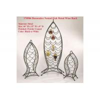 Quality Decorative Nested Fish Metal Wine Rack for sale