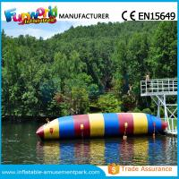 Quality Colorful PVC Inflatable Water Toys Durable Water Jumping Blob Customized for sale