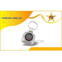 China Supermarket Trolley Coin Keyring and Coin Holder Keychain with Custom LOGO on sale